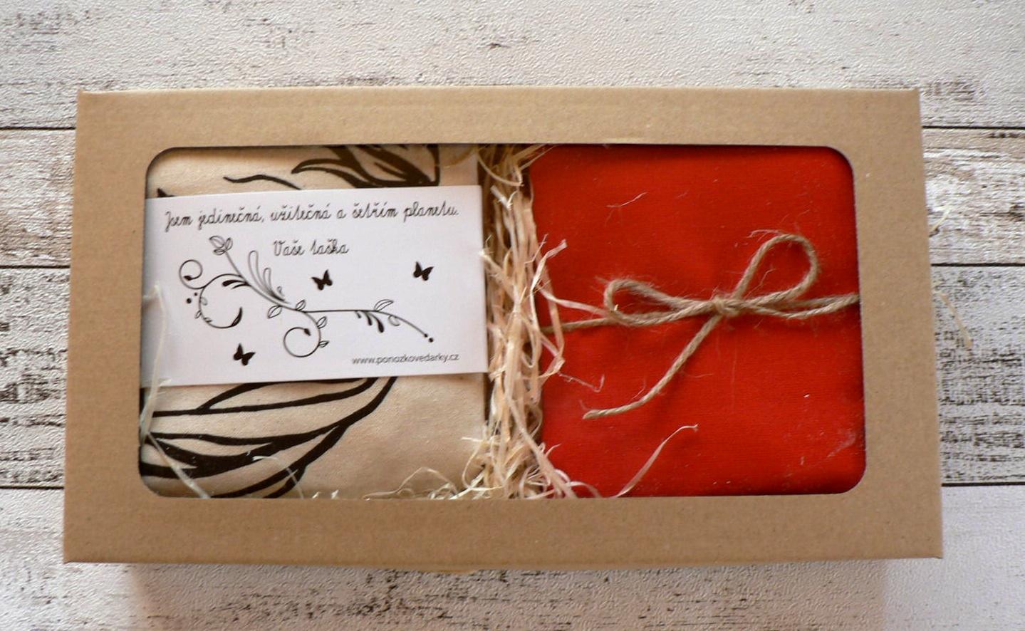 Nový dárkový balíček - dvě tašky v krabičce